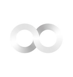 infinity symbol icon aka lemniscate looks like vector image