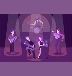instrumental ensemble performance flat vector image