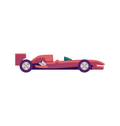 Isolated icon a red racing sports car vector