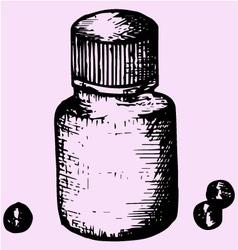 jar vitamins vector image