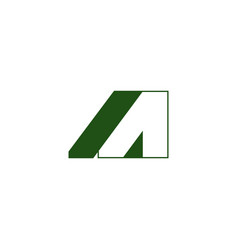 letter a geometric 3d shadow logo vector image