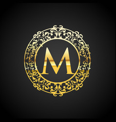 Luxury logo classic and elegant l vector