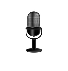 Microphone retro vector