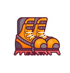 mountain climbing boots icon vector image