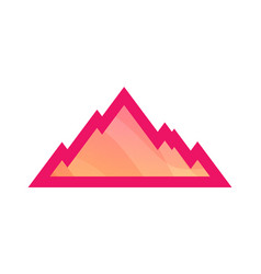mountain icon isolated on white vector image