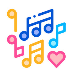 music notes wedding dance thin line icon vector image