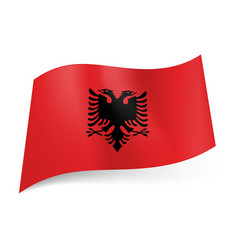 National flag of albania black double-headed vector