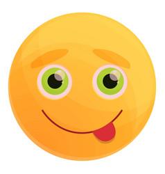 Naughty emoticon icon cartoon style vector