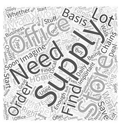 Office supply store Word Cloud Concept vector