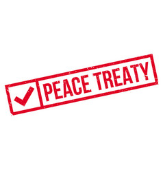 Peace treaty rubber stamp vector