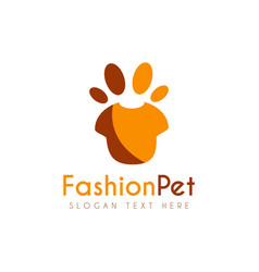 pet fashion logo icon symbols and app icon vector image