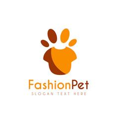 pet fashion logo icon symbols and app icon vector image