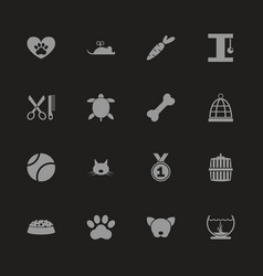 pet - flat icons vector image