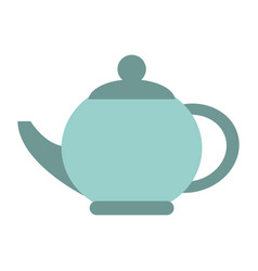porcelain kettle isolated vector image