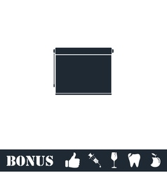 Projector roller screen icon flat vector image