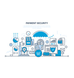 protection payment security finance deposits vector image