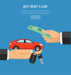 Purchase or rental car vector