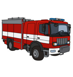 red fire truck vector image vector image
