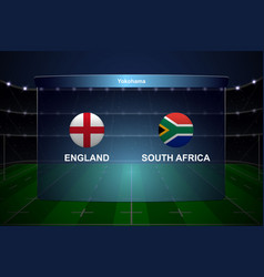 Rugby cup scoreboard broadcast graphic template vector