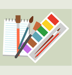 school supplies for studying pencil and tassels vector image