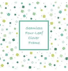 Seamless square springtime frame vector