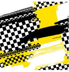 Seamless tire pattern vector
