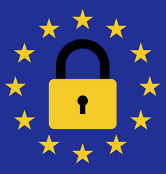Sign prohibition of entry of migrants in the eu vector