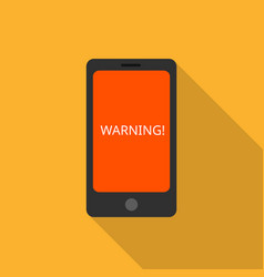 smartphone warning icon flat style vector image