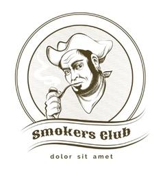 Smokers Club vector image