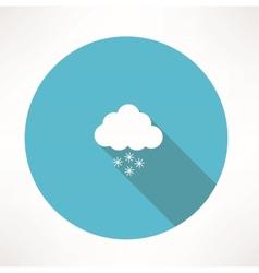 snowing icon vector image