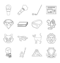 sport library animal and other web icon in vector image
