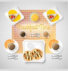 Sweet breakfast food concept vector