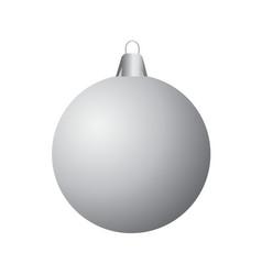 template of christmas ball no color vector image