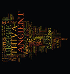 The ancient thiva text background word cloud vector