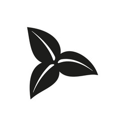 Three leaves icon on white background vector