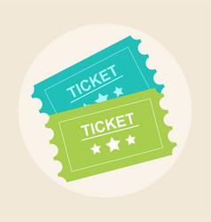 tickets icon retro cinema tickets movie ticket vector image