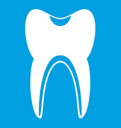 tooth icon white vector image