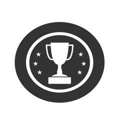 Trophy cup with stars icon 1 vector