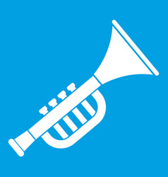 Trumpet toy icon white vector