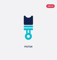 Two color piston icon from industry concept vector