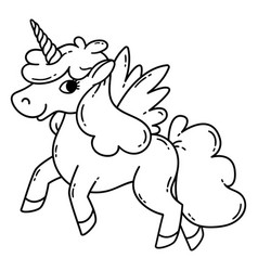 unicorn with wings vector image