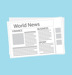 World news newspaper vector image