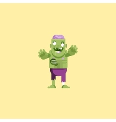 Zombie character with brains for vector