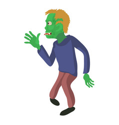 Zombie from the side icon cartoon style vector