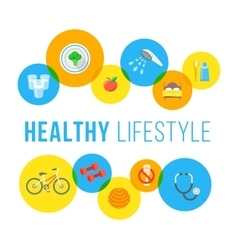 Healthy lifestyle flat concept vector image