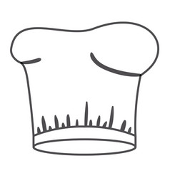 Monochrome silhouette with chef hat vector