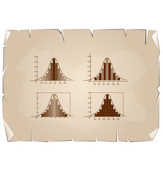 set of normal distribution or gaussian bell on old vector image vector image