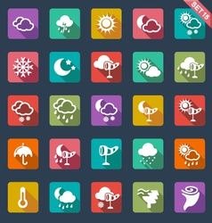 weather icons- flat design vector image