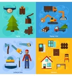 Woodworking Industry Set vector image vector image