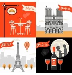 France Paris Retro Style Concept vector image